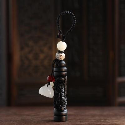 黑檀木雕刻龙凤柱 菩提子 送家人 送闺蜜 平安健康挂件 ?