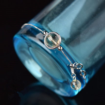 太阳系守护石手链,s925银 招财,旺财 女款