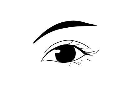 眉毛中间粗,两边细