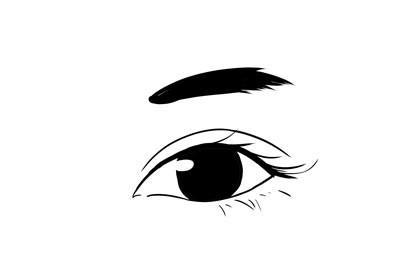 眉毛比眼睛短