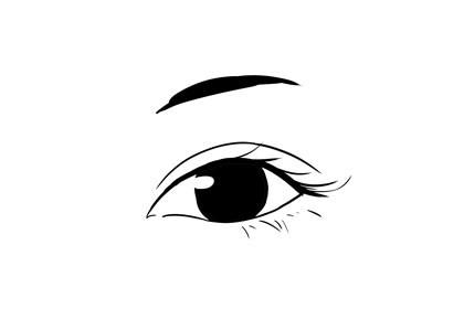 眉毛又细又短