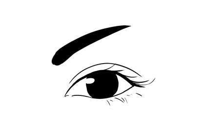 眉头重,眉尾轻