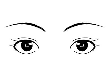 眼睛圆润对称