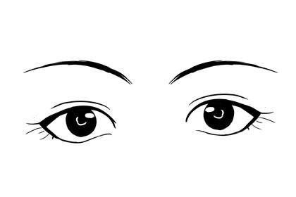 左右眼高低不平