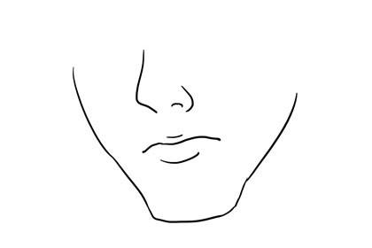 长方形下巴