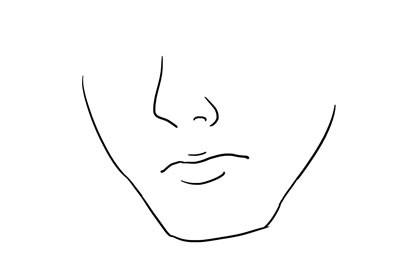 正方形下巴