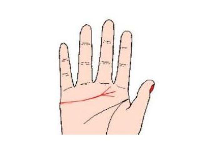 女人右手感情线分三叉