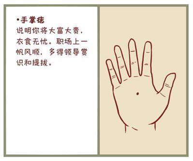 男人手心有痣代表什么
