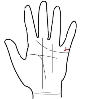 夫妻反目!左手婚姻线分叉图解分析