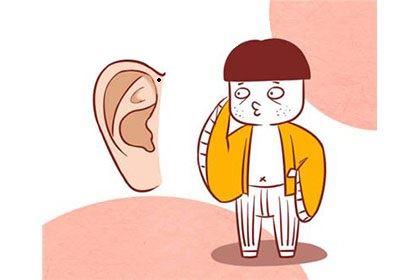图解男人耳朵上有痣,在外地发展会有一定名气!