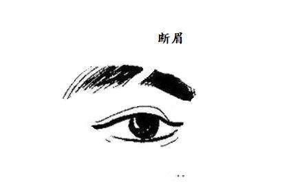 表面温和,实则容易情绪化的男人断眉面相解析