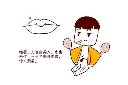 一生衣食无忧的嘴巴痣的位置与命运图分析
