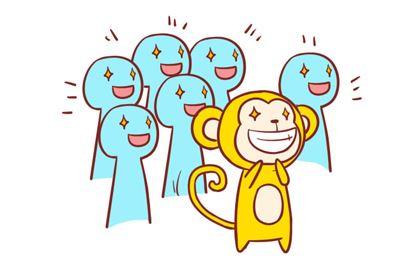 属猴男的爱情观太过理想化,抱有许多美好的憧憬与幻想!