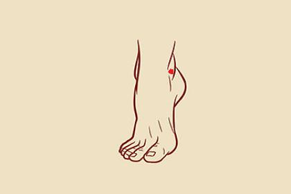 脚踝有痣的男人性格温顺,工作顺利,但容易破财!