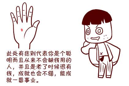 woman左手掌有痣代表what?头脑聪明,财�送�