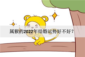 属猴的2022年结婚运势好不好?感情水到渠成?