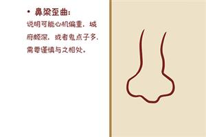 面相学中女人鼻梁歪代表什么意思?