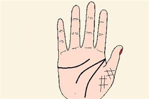 土星丘有井字紋的手相分析,性情溫順家庭運好?