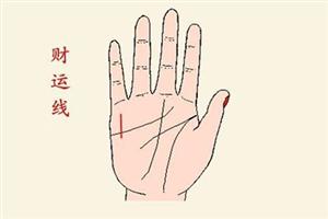 女人手相财运线位于手掌心中的什么位置?