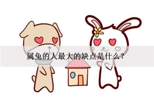 属兔的人最大的缺点是什么?性格过于敏感