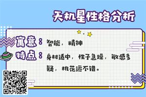 紫微斗数看外貌特征:紫微十四主星为天机星的人