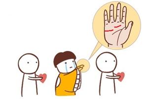 男生感情线断开与错位的手相分析,容易再婚吗?