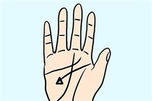 手相分析事业线上有三角纹好不好?财运和事业运都很旺!