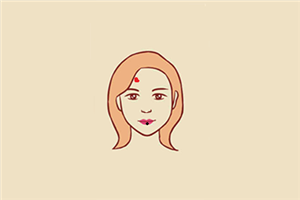 女人额头哪里长痣好,能助旺事业和家庭?