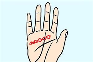感情线有锁链纹的手相,预示着异性缘好但烂桃花多?