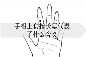 手相上食指长痣代表了什么含义