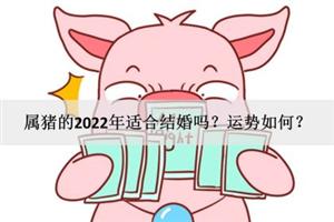 属猪的2022年适合结婚吗?运势如何?