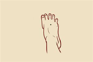 腳部痣的位置與命運圖:腳上的痣長哪里比較好?