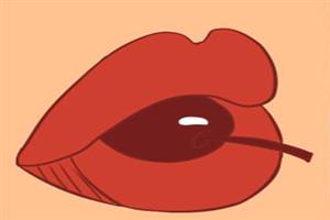 面相樱桃嘴是什么样子,唇红口小,楚楚动人!