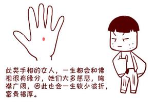 手掌痣的位置不同,性格和命运也不同!