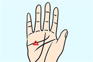 手相解析生命线有三角纹好不好,代表什么意思?
