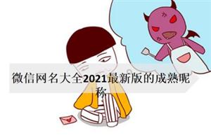 微信网名大全2021最新版的成熟昵称